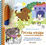 Pinceau magique - Bébés animaux - Bébés animaux – Livre Coloriage magique à l'eau avec un pinceau – À partir de 3 ans