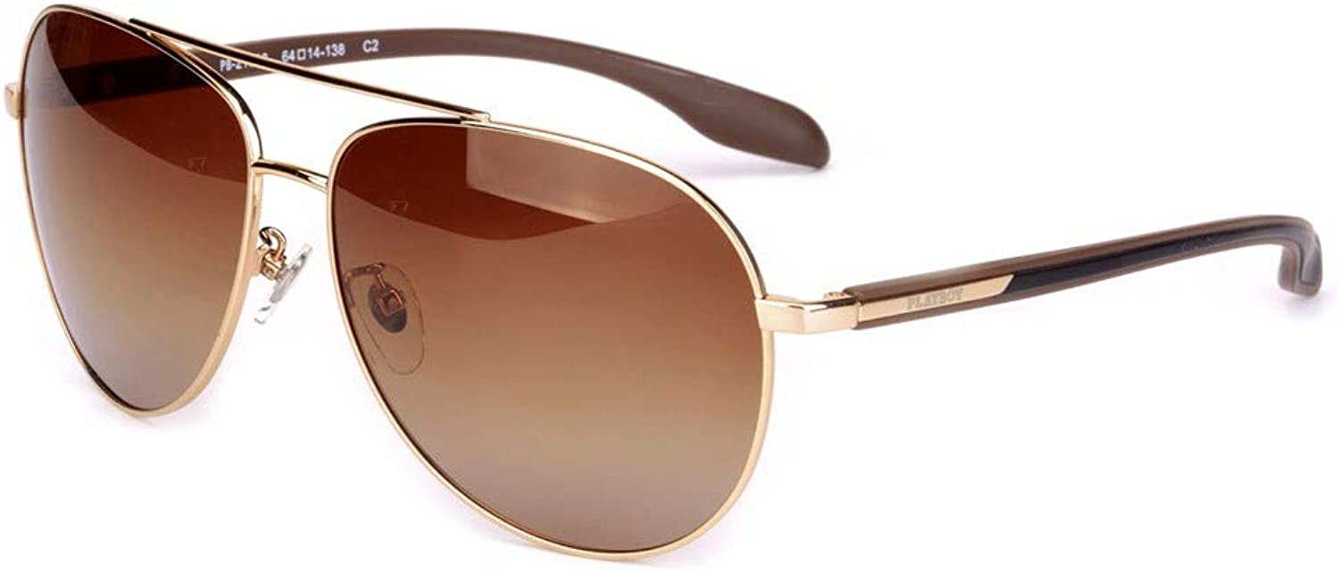 LFFTYJ Sunglasses, Men and Women Driving Big Box Polarized Eyes Driving Mirror Sunglasses Retro Polarized Big Box Face Give him (her) a Good Summer Gift (color   A)