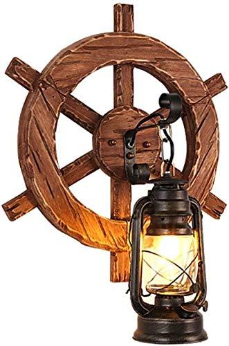 HDDD industriële retro-wandlamp, creatieve persoonlijkheid, bar, restaurant, hal, zijkant van het bed, paardendeken, van hout, wandlamp, slaapkamer, kleding, badkamer