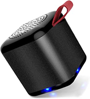 MIABOO Mini Bluetooth Speakers Wireless Portable Small Speaker Tiny Size with Loud Sound, 10 m Range Easy Pair, Stereo Sound by Dual Connection for Home Outdoor Travel (Black)
