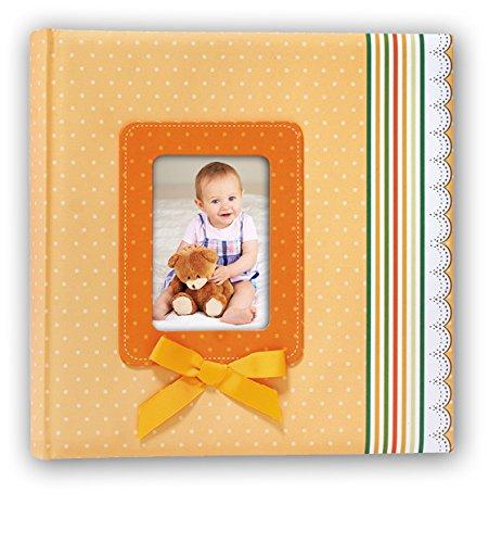 ZEP S.r.l RN242420R klassiek fotoalbum, met strik, 40 pagina's, 24 x 24, oranje