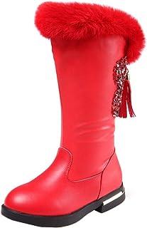 Fanessy niños botas de nieve impermeables para niñas niños botas de invierno botas de invierno con forro cálido antidesliz...