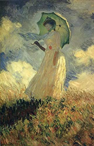 Monet's Famous Painting - A Woman Holding A Parasol Diamond Painting By Number Kits,