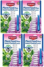 Bayer Advanced 701710 2-in-1 Insect Control Plus Fertilizer Plant Spikes, 10-Spikes (Pack of 4)
