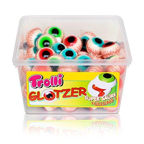 Trolli Glotzer Schaumzucker Gummibonbons mit saurer fruchtiger Füllung 60 stk.