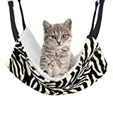 REACHS Cat Cage Hammock with Reversible Sides,Hammock Bed with Hanging Hook and Soft Plush for Pet/Puppy/Kitty/Ferrets/Hamster/Guinea Pig and Ferret