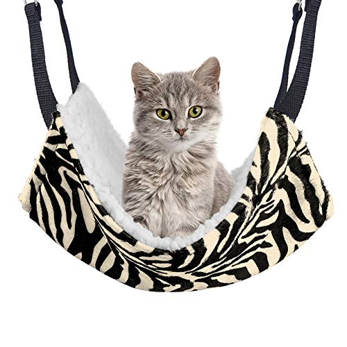 REACHS Cat Hammock for Pet Cage,Cat Cage Hammock with Reversible Sides,Hammock Bed with Hanging Hook and Soft Plush for Pet/Puppy/Kitty/Ferrets/Hamster/Guinea Pig and Ferret