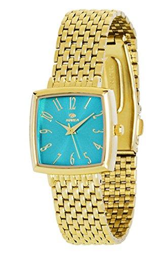 Reloj Marea Mujer B41148/8 Azul Dorado Cuadrado