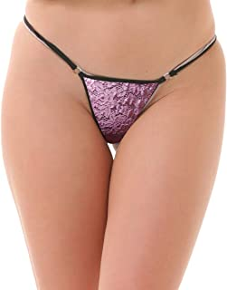 Lola Dola Women Girls Ladies Polyamide G-String Panty Set of 01 (Multi, Free)