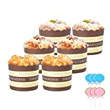 HOKPA Fake Cupcake Simulation Sprinkle Frosting Artificial Realistic Cake Food Muffin Bread Dessert Mixed Play Food Model Kitchen Decoration Bakery Display Props (6Pcs)