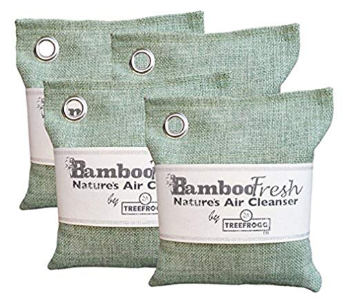 Review Of Bamboo Charcoal Natural Air Purifying Bag - 4 Pack Total of 800g Odor Eliminator for Cars,...