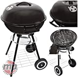 """Best Barbecue Grills - MP Essentials Portable Charcoal Trolley 17"""" Kettle Barbecue Review"""