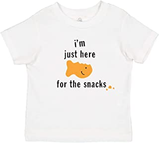 Panoware Funny Toddler Boy T-Shirt | I'm Just Here for The Snacks