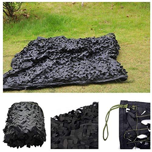 Filet de Camouflage Noir Filet de Solaire Renforce Filet de Camouflage Filet d'ombrage for Chasse Tir Camping Patios Écran Solaire Décoration Plein Air Tente Pare-Soleil Maille, Différentes Tailles