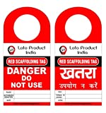 Loto Product India lockout Tagout scaffolding red tag Danger or Do not Use Set of 10