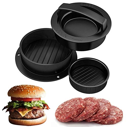 WEKNOWU Burger Press, 4 en 1 Kit de moldes para Hamburguesas rellenas para Hamburguesas y Hamburguesas para Asar a la Parrilla