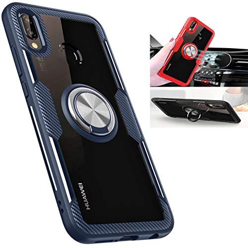 Beovtk Funda Huawei P20 Lite,360 Grados Giratorio Finger Ring Holder [Montaje de Coche Magnético]…