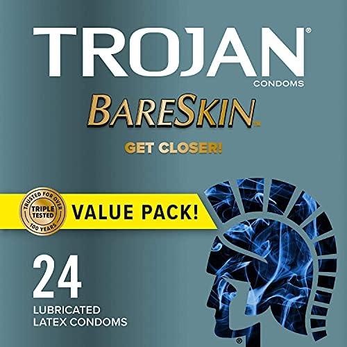 TROJAN Bareskin Thin Premium Lubricated Condoms