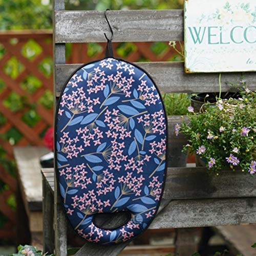 KOSNOR Kneeling Pad For Gardening with Handles for Extra Thick and Comfort Heavy Duty Kneeler Cushion for Gardening Bath Exercise and Housework Extra Large XL 20x11x2 inches Blue Floral