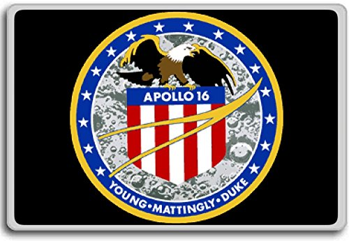 Apollo 16, 1972 Project Apollo Mission Patch Insignia fridge magnet - Calamita da frigo
