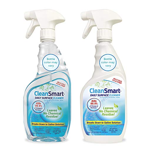 CleanSmart Daily Surface Cleaner and Disinfectant, Kills 99.9% of Viruses and Bacteria, 23 ounce spray (Pack of 2)