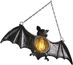 Mobestech Lanterna suspensa de Halloween Lanterna de resina Morcego Luz noturna de Halloween Decoração de Halloween Lanter...