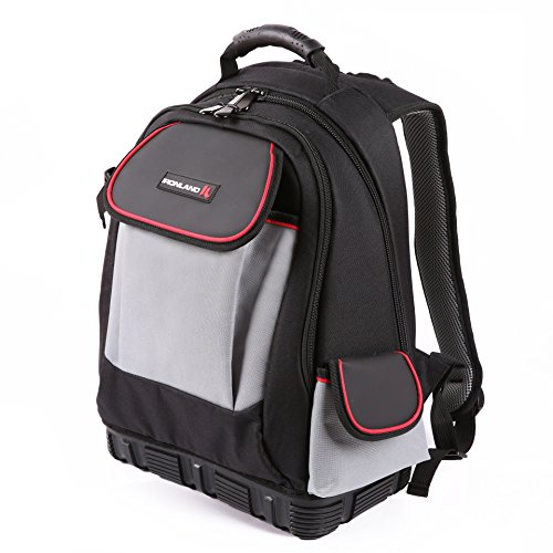 Electrician Tool Bag Backpack with Waterproof Molded Base (BP-001)