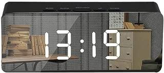 ❤Ywoow❤ 🍀 Creative LED Digital Alarm Clock Night Light Thermometer Display Mirror Lamp Hot