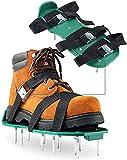 AMELIA Zapatillas de Aire del césped de jardín - Aeroador de césped Zapatos con Pinchos para la aparición del Suelo del césped, un Solo tamaño