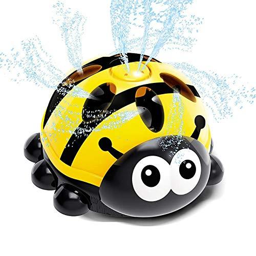 Kitcheb Children's Water Spray Ladybird Toy|Summer Cooling Cartoon Lightweight Portable Bathing Doll Toy for Bathroom Backyard, Water Spray Toy Hydro Swirl Spinning Water Sprinkler Toy