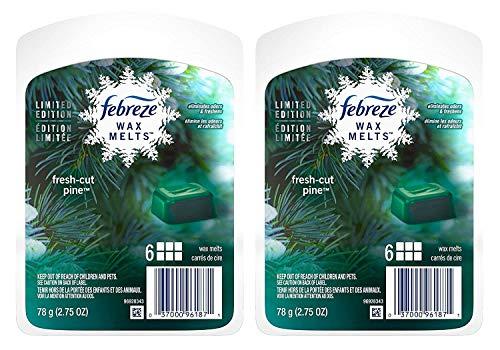 Febreze Wax Melts Value Pack 12ct Melts (Fresh Cut Pine) Limited Edition