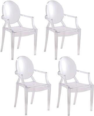 Amazon.com: Muebles de flash cristalino transparente Ghost ...
