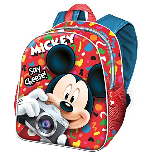 Karactermania Topolino Say Cheese-zaino Asilo Kinder-Rucksack 30 Centimeters 7 Mehrfarbig (Multicolour)