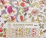 50 fogli 10 natura unica fiori progetti di scrapbooking carta decoupage designer pennello d'oro di carta pack 17.3 cm x 24.5 cm