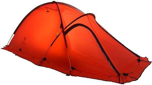 GFF La Tente de Silicium enduite Alpine de Tente de Camping de 2 Personnes 4 tentes Doit être assemblée pour des Sports en Plein air avec la Couleur Rouge