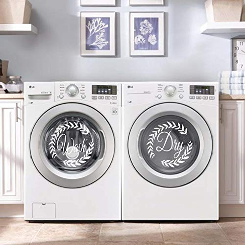 Vinyl Quote Me Laundry Washer Dryer Decal Sticker Decor | Wash and Dry Decals |Washer and Dryer Sticker | Laundry Room Decor | B-White