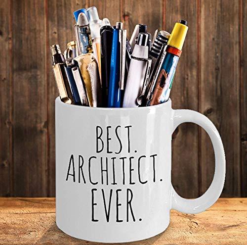 N\A Regalo de Arquitecto Taza de Mejor Arquitecto Regalo de compañero de Trabajo Taza Personalizada Regalos de Oficina Estudiante Arquitecto Taza de Arquitectura Futuro Arquitecto
