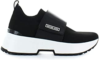 Womens Cosmo Knit Leather Fashion Sneakers