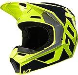 Casco de motocross Fox V1 Prix, negro/amarillo, talla L