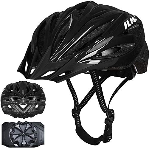 ILM Youth Adult Bike Helmet Bicycle Cycling Helmets Lightweight Quick Release Casco for Biking MTB (Black, Large/X-Large)