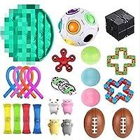 ポップバブル感覚玩具、感覚のフィジットおもちゃセット、ベント減圧縮小スケイズのおもちゃセットイベリティーや不安Gyro Cube Dice Toys (Color : Group 5 groups)
