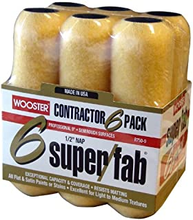 2 Pack of 6 - Wooster Brush R750-9 Super/Fab Roller Cover, 1/2-Inch Nap, 9-Inch