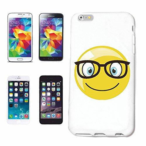 Reifen-Markt Handyhülle kompatibel für iPhone 6S Geek Smiley Nerd Smiley MIT GROSSER Brille Smileys Smilies Android iPhone Emoticons IOS GRINSE Gesicht Emoticon AP