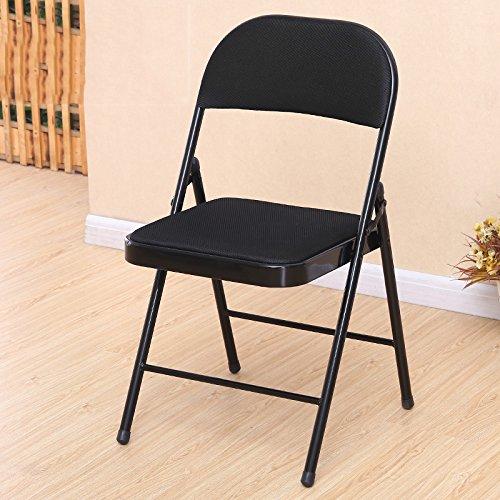 LJHA Tabouret pliable Chaise pliante d'ordinateur Siège arrière Mahjong tabouret Chaise à manger en maille 6 couleurs disponibles Le nombre de facultatif chaise patchwork (Couleur : C, taille : 1#)