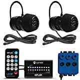 CURRENT Dual eFlux Aquarium Wave Pumps, 2,100gph - Includes 2 Wave Maker Water Circulation Pumps for Freshwater and Saltwater Fish Tanks - Multiple Adjustable Flow Modes - Wireless Remote Control