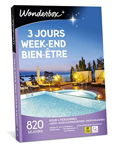 Wonderbox – Coffret cadeau couple – 3 JOURS WEEK-END BIEN-ETRE – idée cadeau- 820 séjours en hôtels-spa, manoirs