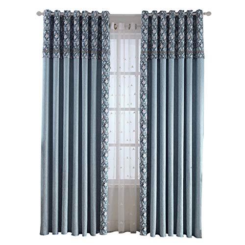Xuanjiashop Verdunkelungsgardinen Moderne Art Bannfarbe Schattierung Vorhänge Wohnzimmer Schlafzimmer Balkon Vorhänge Blickdicht Gardinen (Größe : XL)