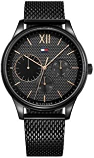 Tommy Hilfiger 1791420 Stainless Steel Round Analog Water Resistant Watch for Men - Black