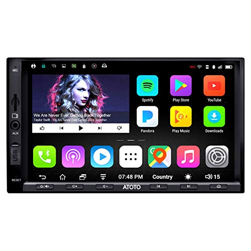 ATOTO A6 2 Din Android Car Navigation Stereo con 2 Bluetooth - Standard A6Y2710SB 1G   16G Car Multimedia Radio, WiFi BT Tethering Internet, supporto 256G SD e altro