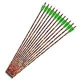 M.A.K 6/12pcs 30' Carbon Arrow Shaft Plastics Fletching Changable Head Fit Compound Bow